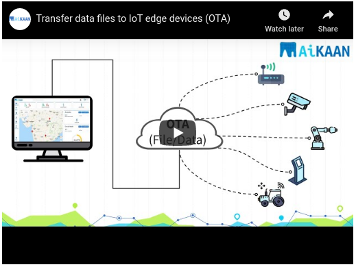 Transfer data files to IoT edge devices (OTA)