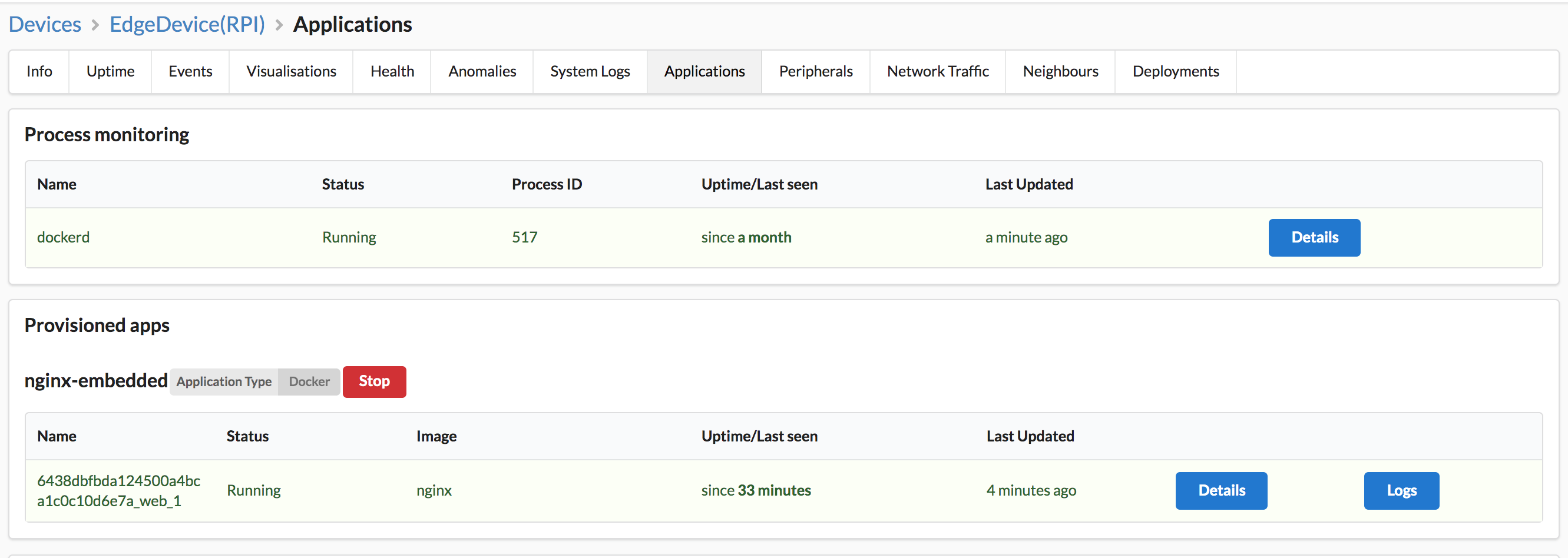 Docker deployment on edge embedded devices